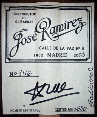 Jose Ramirez 2003 - Guitar 2 - Photo 11