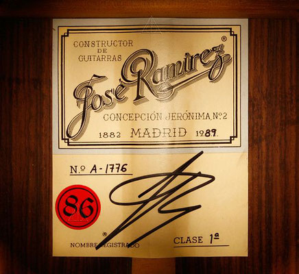Jose Ramirez 1989 - Guitar 1 - Photo 5