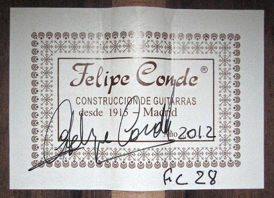 Felipe Conde 2012 - Guitar 6 - Photo 6