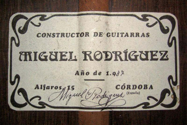 Miguel Rodriguez 1987 - Guitar 2 - Photo 7