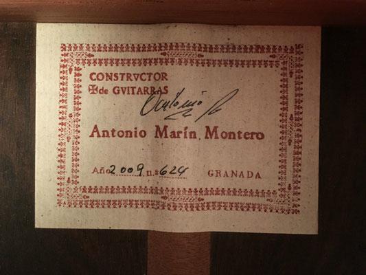 Antonio Marin Montero 2009 - Guitar 2 - Photo 28