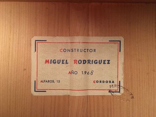 Miguel Rodriguez 1968 - Guitar 2 - Photo 33
