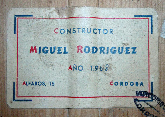 Miguel Rodriguez 1968 - Guitar 1 - Photo 7