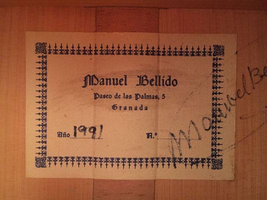 Manuel Bellido 1991 - Guitar 1 - Photo 3