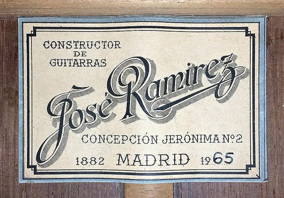 Jose Ramirez 1965 - Guitar 4 - Photo 3