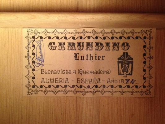 Gerundino Fernandez 1974 - Guitar 1 - Photo 3