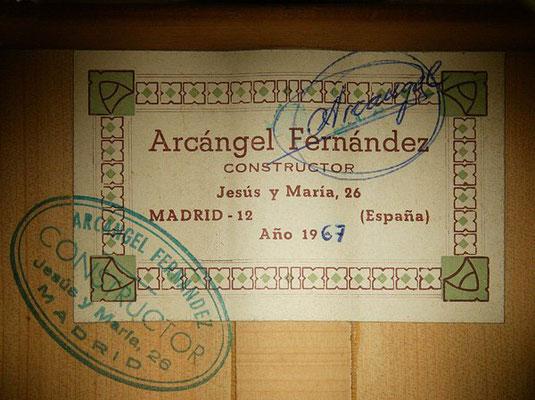 Arcangel Fernandez 1967 - Guitar 1 - Photo 3
