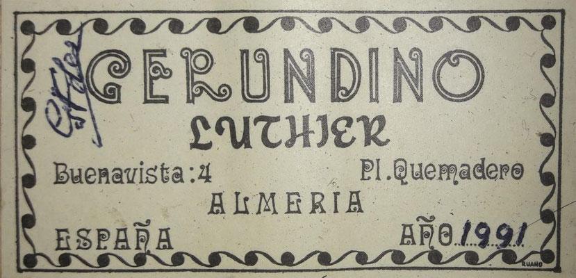 Gerundino Fernandez 1991 - Guitar 4 - Photo 17