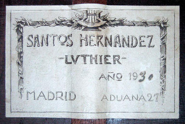 Santos Hernandez 1930 - Guitar 2 - Photo 5