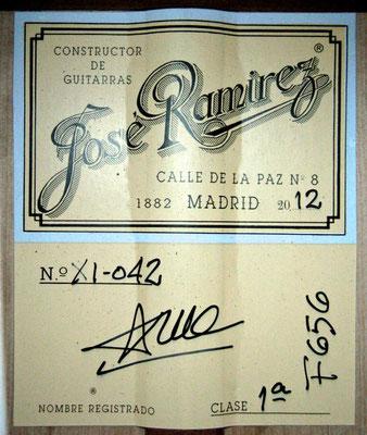 Jose Ramirez 2012 - Guitar 1 - Photo 8