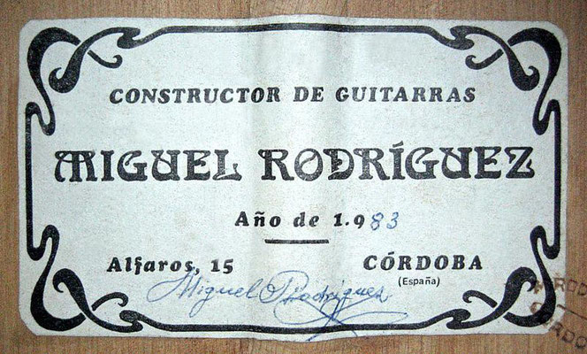 Miguel Rodriguez 1983 - Guitar 2 - Photo 6