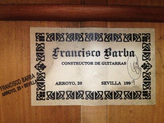Francisco Barba 1999 - Guitar 1 - Photo 16