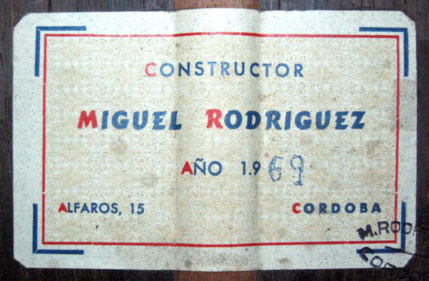 Miguel Rodriguez 1969 - Guitar 1 - Photo 2