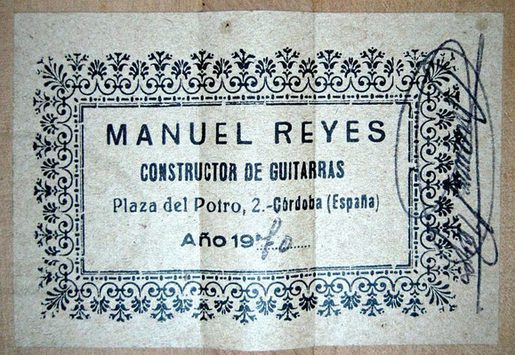 Manuel Reyes 1970 - Guitar 1 - Photo 1