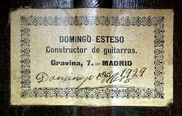 Domingo Esteso 1929 - Guitar 4 - Photo 9