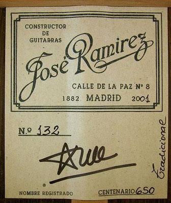 Jose Ramirez 2001 - Guitar 1 - Photo 1