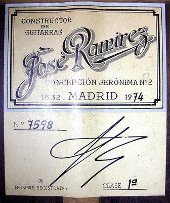 Jose Ramirez 1974 - Guitar 1 - Photo 5