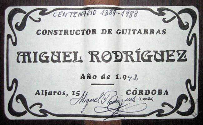 Miguel Rodriguez 1992 - Guitar 1 - Photo 1