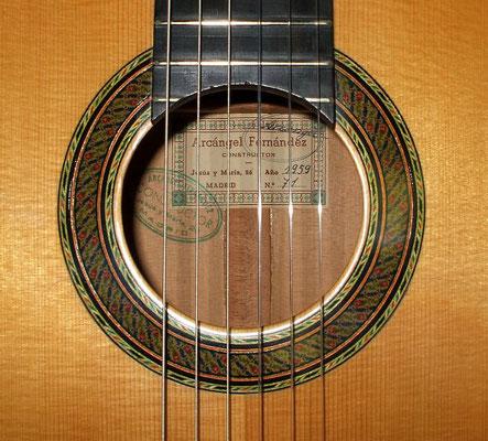 Arcangel Fernandez 1959 - Guitar 1 - Photo 2