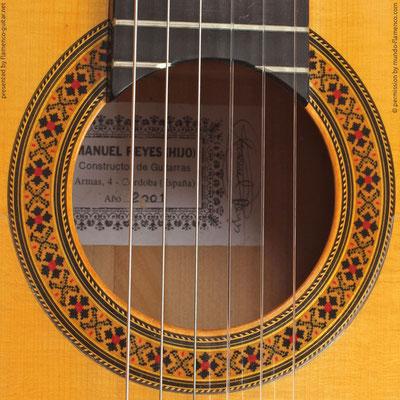 MANUEL REYES HIJO | GUITAR  GITARRE | 2001  | ROSETTES ROSETTEN