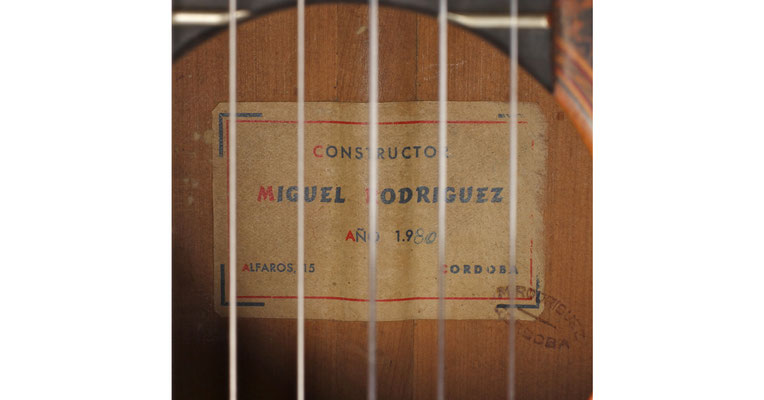 Miguel Rodriguez 1980 - Guitar 1 - Photo 6
