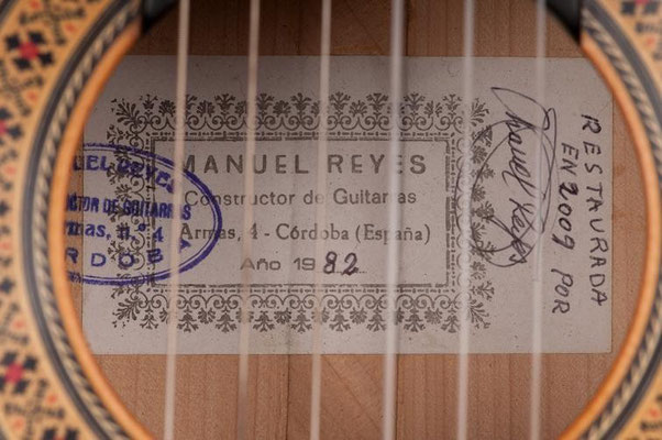 Manuel Reyes 1982 - Guitar 1 - Photo 6