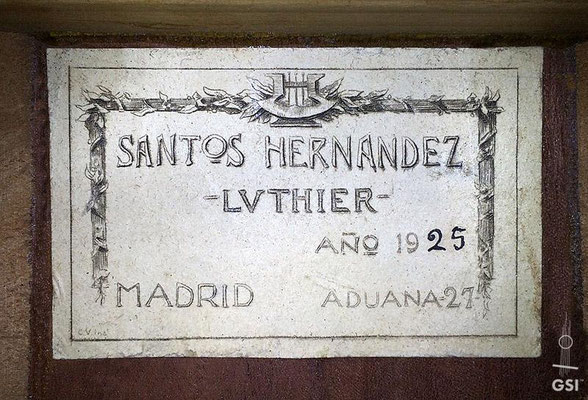 Santos Hernandez 1925 - Guitar 2 - Photo 3