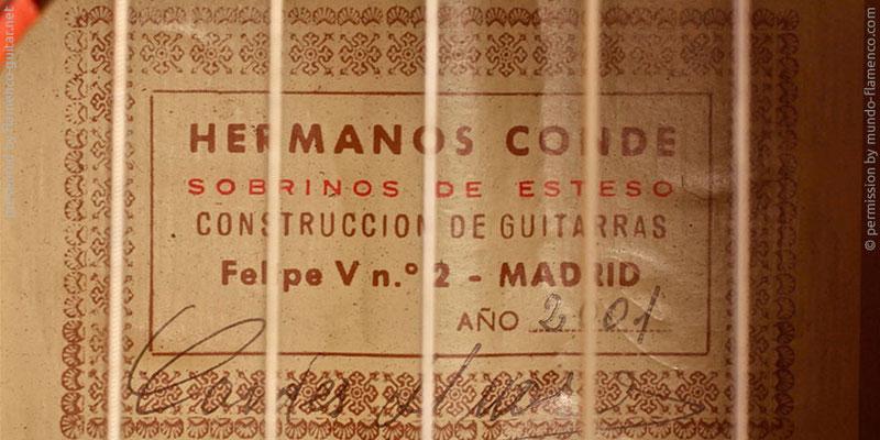 HERMANOS CONDE - SOBRINOS DE ESTESO 2001 - LABEL - ETIKETT - ETIQUETA