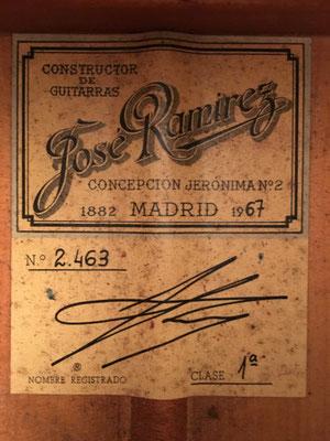 Jose Ramirez 1967 - Guitar 6 - Photo 3