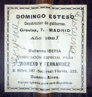 Domingo Esteso 1925 - Guitar 2 - Photo 1