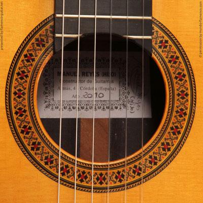 MANUEL REYES HIJO | GUITAR  GITARRE | 2010  | ROSETTES ROSETTEN