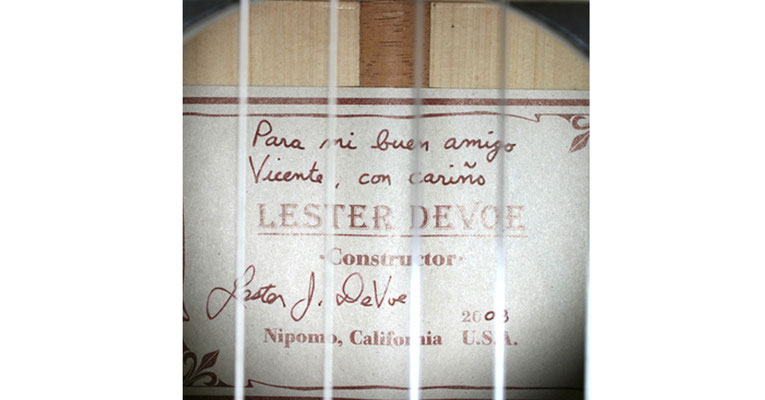 Lester Devoe 2008 - Vicente Amigo - Guitar 1 - Photo 5