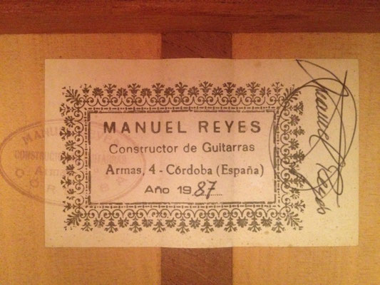 Manuel Reyes 1987 - Guitar 1 - Photo 3