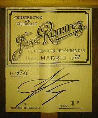 Jose Ramirez 1972 - Guitar 1 - Photo 4
