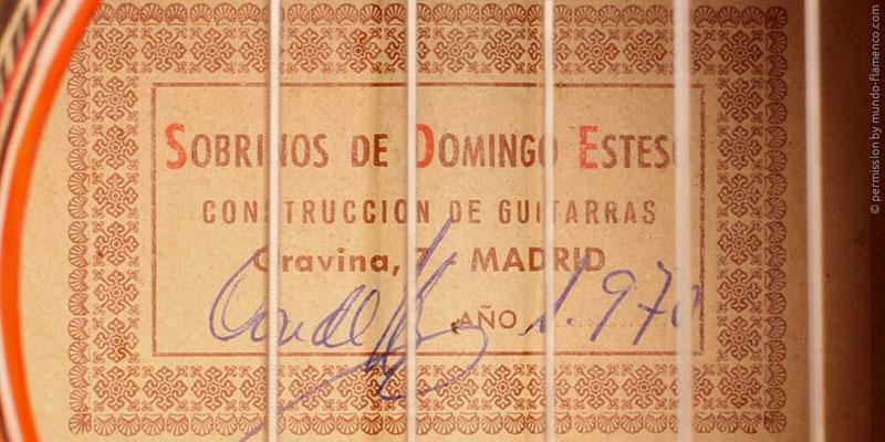 HERMANOS CONDE - SOBRINOS DE ESTESO 1970 - LABEL - ETIKETT - ETIQUETA