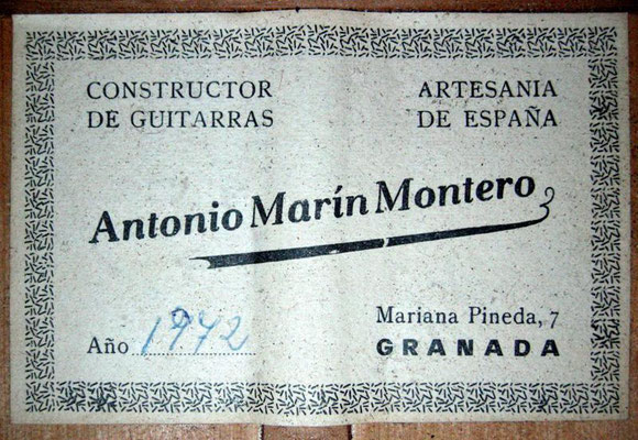 Antonio Marin Montero 1972 - Guitar 1 - Photo 6