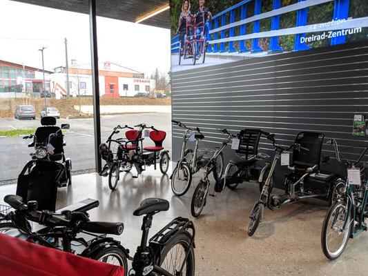 Dreiräder für Erwachsene in unserem Dreirad-Zentrum Bad Hall