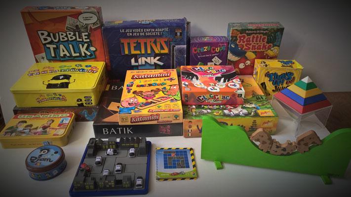 jeux de règle : observation, logique, association, adresse, expression, imagination ...