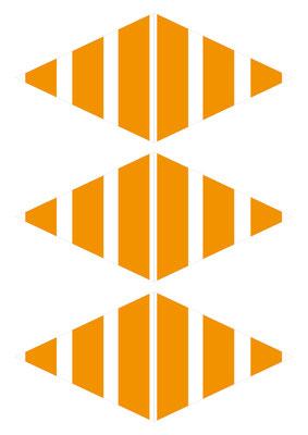 Girlande Streifen orange
