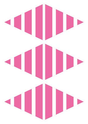 Girlande Streifen pink