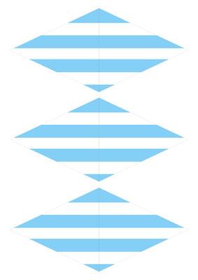 Girlande Streifen blau