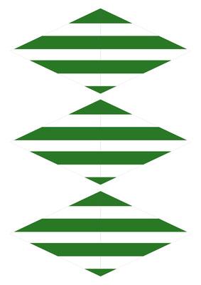 Girlande Streifen grün