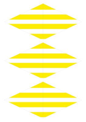 Girlande Streifen gelb