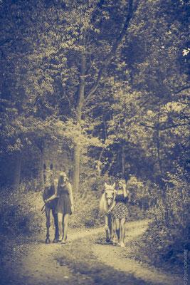 Pferde Shooting mit Julie und Zoé