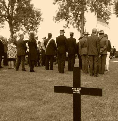 cérémonie 101éme anniversaire bataille de la somme 1er juillet 2017 fricourt cimetière allemand