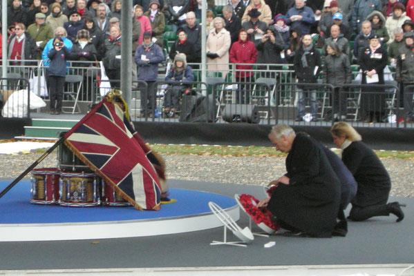18 Novembre - Thiepval- cérémonie pour commémorer la fin de la bataille de la somme