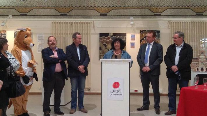 Avril 2017 : inauguration de l'exposition ARTBORIGENE par Anne carlier