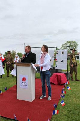 du 21 au 28 Avril 2017 : semaine australienne : Albert - 22 avril : match de rugby flag commémoratif : discours en l'honneur des soldats et rugbymen australien