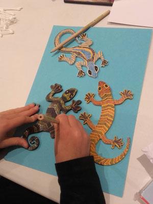 du 21 au 28 Avril 2017 : semaine australienne : atelier de création aborigène