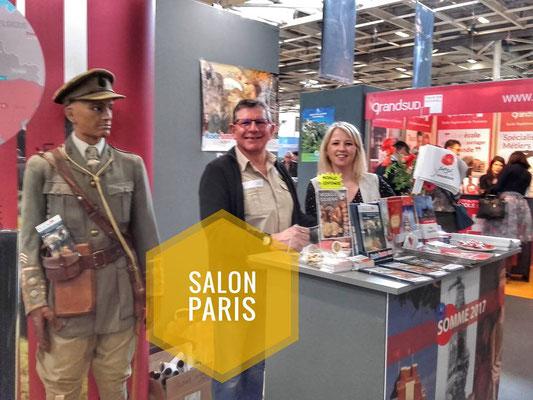Mars 2017 : notre présence au salon du mondial du Tourisme à Paris sur le pôle Mémoire